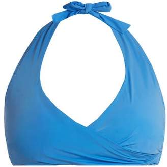 Heidi Klein - Body Halterneck Bikini Top - Womens - Blue