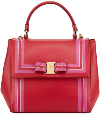 Salvatore Ferragamo Saffiano Colorblock Top Handle Bag