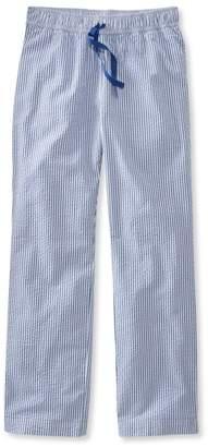 L.L. Bean L.L.Bean Cotton Sleep Pants, Seersucker Stripe