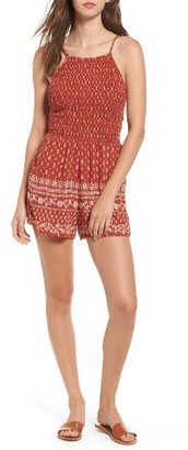 Women's Socialite Ruched Romper $45 thestylecure.com