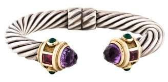 David Yurman Amethyst, Garnet & Chalcedony Renaissance Bracelet