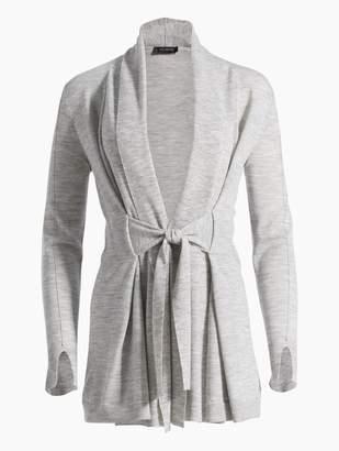 St. John Jersey Knit Draped Shawl Cardigan