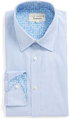 Ted Baker Hooch Trim Fit Check Dress Shirt