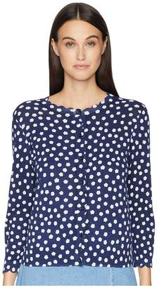 Kate Spade Cloud Dot Scallop Cardigan Women's Sweater