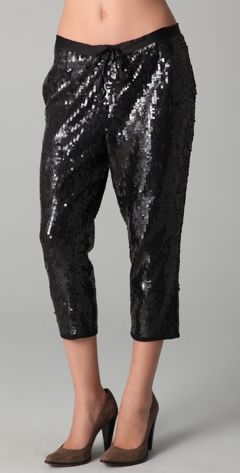 Gryphon Cropped Sequined Pants