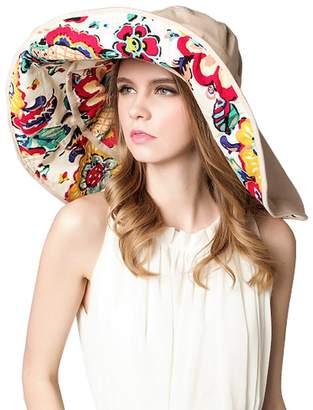 494b3882906 Urban CoCo Detachable Roll Summer Beach Sun Visor Wide Brim Hat Cap