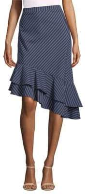 Joie Yenene Stripe Poplin Ruffle Skirt