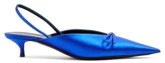 Balenciaga Knife Slingback Mules - Womens - Blue