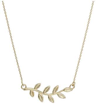 Dee Berkley 14KT Yellow Gold Leaf Necklace Necklace
