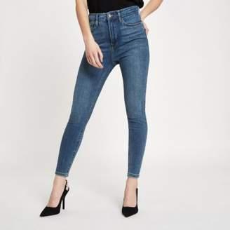 River Island Womens Petite mid blue Harper high rise skinny jeans