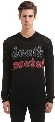 McQ Death Metal Wool Mohair Sweater
