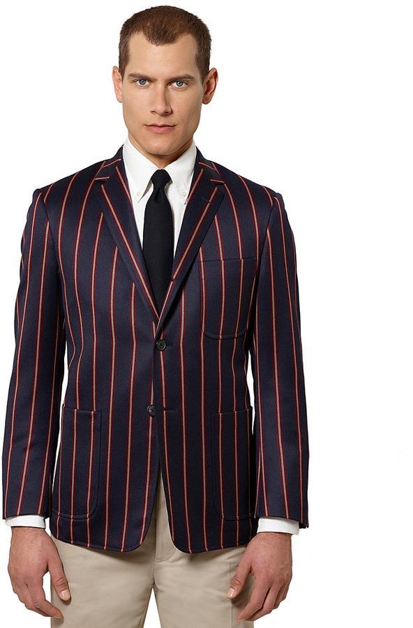 Brooks Brothers Stripe Patch Pocket Jacket