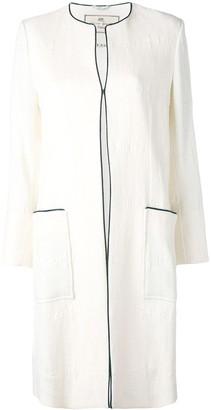 Etro collarless pocket coat