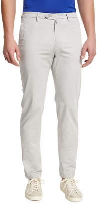 Kiton Flat-Front Chino Trousers, Stone