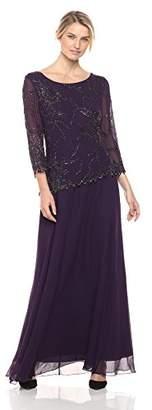 J Kara Women's 3/4 Sleeve Beaded Dress
