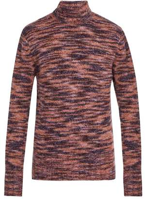 Blend of America Sies Marjan - Dylan Roll Neck Wool And Silk Sweater - Mens - Purple
