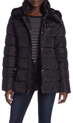 Via Spiga Faux Fur Trimmed Down Jacket