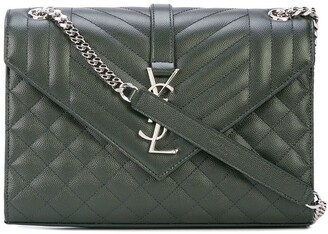 Saint Laurent quilted Envelope shoulder bag