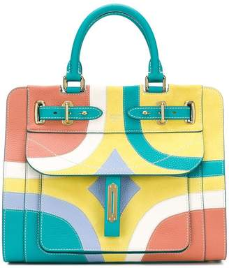 Fontana colour block tote bag