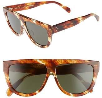 Celine C?line Special Fit 60mm Flat Top Sunglasses