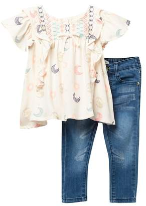 Jessica Simpson Ruffled Top & Jeans Set (Baby Girls)