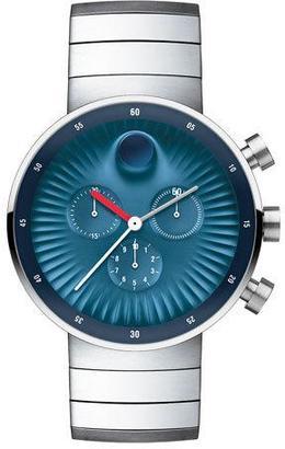 Movado 42mm Edge Chronograph Watch, Navy $995 thestylecure.com
