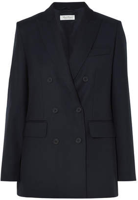 Max Mara Cennare Double-breasted Wool Blazer - Navy