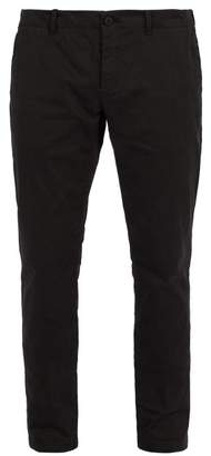 Tomas Maier Peach Cotton Blend Trousers - Mens - Black