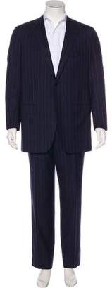 Kiton Striped Wool Two-Piece Suit