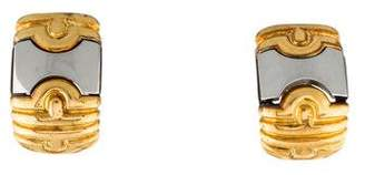 Bvlgari Two-Tone Parentesi Clip-On Earrings