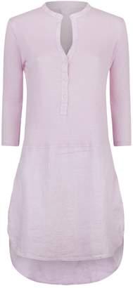 120% Lino 120 Lino LinenShirt Dress