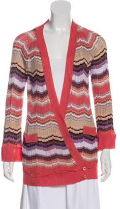 Missoni Lightweight Wrap Cardigan Coral Lightweight Wrap Cardigan