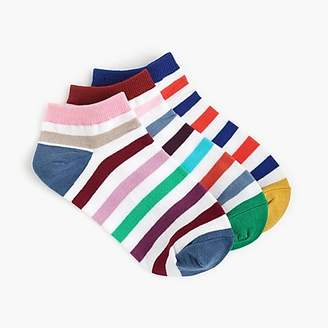 J.Crew Ankle socks three-pack in multi-stripe