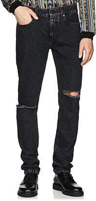 Saint Laurent Men's Distressed Skinny Jeans