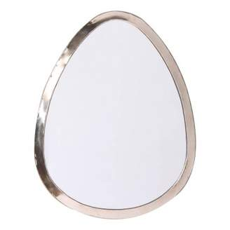 Smallable Home 40x30 cm Egg-Shaped Nickel Silver Mirror