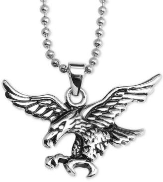 "Macy's Flying Eagle 24"" Pendant Necklace in Stainless Steel"