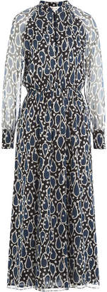 Paul & Joe Printed Silk Chiffon Midi Dress