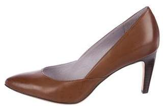 Johnston & Murphy Leather Pointed-Toe Pumps