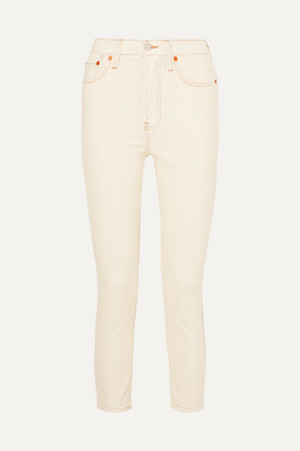 RE/DONE Stretch-cotton Corduroy Skinny Pants - White
