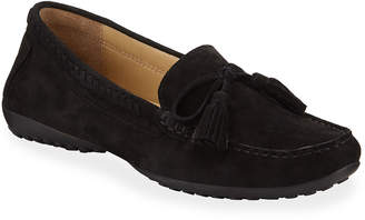 Neiman Marcus Aurore Suede Moccasin Drivers