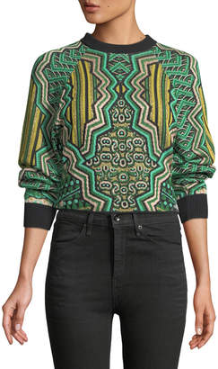 M Missoni Graphic Jacquard Crop Top