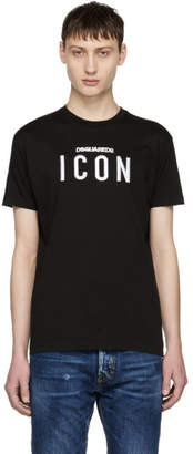 DSQUARED2 Black Faded Dyed Logo T-Shirt