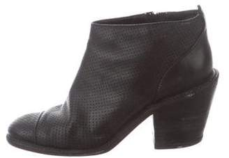 Rachel Comey Perforated Round-Toe Ankle Boots