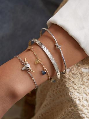 Shein Goat Head & Heart Decor Chain Bracelet 4pcs
