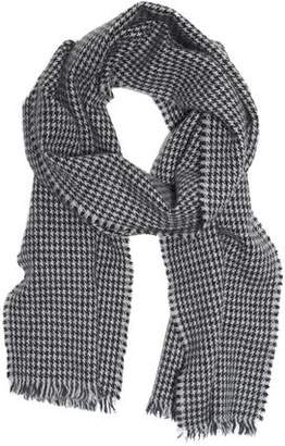 Drakes Drake's Lightweight Houndstooth Twill Scarf in Grey