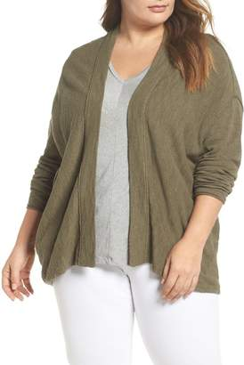 Caslon Drop Shoulder Cardigan (Plus Size)