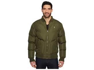 U.S. Polo Assn. Chevron Bomber Jacket Men's Coat