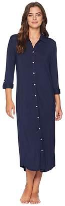 Lauren Ralph Lauren Long Sleeve Roll Tab Ballet Sleepshirt Women's Pajama