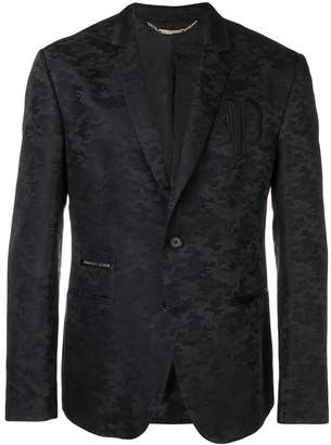 Philipp Plein camouflage jacquard blazer