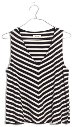 Women's Madewell Chevron Stripe Swing Tank $39.50 thestylecure.com